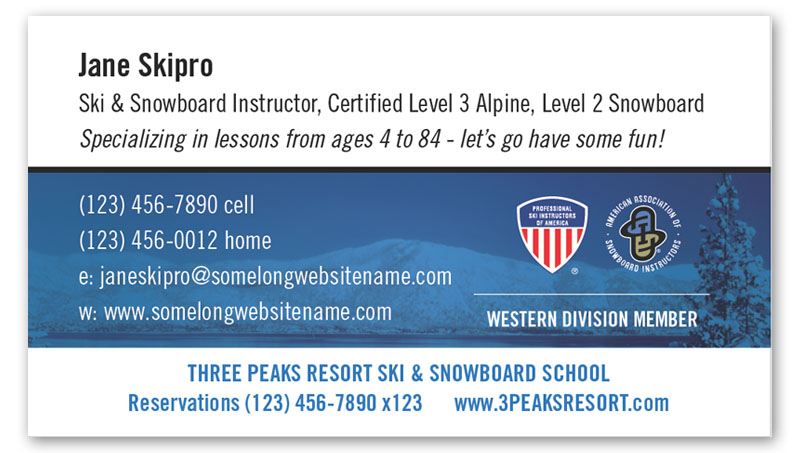 Order psia aasi western pro cards snowpro portal order pro business cards now colourmoves